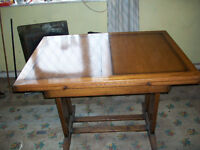 SOLID WOOD DINING TABLE PLUS FOUR CHAIRS