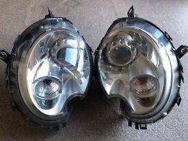 Mini Cooper S front headlights