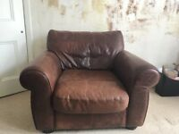 John Lewis leather armchair
