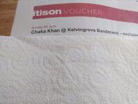 Chaka khan gig sunday 4/6/17 kelving grove band stand
