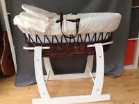 Beautiful wicker Moses basket