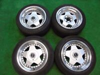 "BBS STYLE 16"" DEEP DISH STAGGERED ALLOY WHEELS 4X100 5X100 BMW 3 SERIES E30, E21"