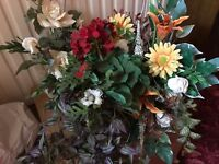 Artificial flower arrangements - assorted bundle of colours and styles
