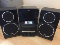 JVC Stereo with IPod/IPhone dock, USB port, CD drive
