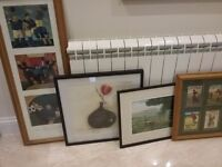 Selection of framed pictures