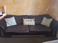 4 Seater Black/Grey Couch