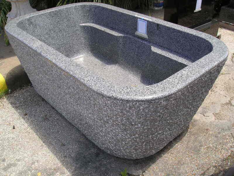 Beautiful Solid Granite Tub: Brand New
