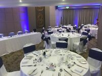 Seat covers and tablecloths wedding