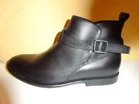 NEW black leather shoes size 42