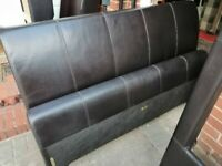 Double Faux Leather Bed with Drawers