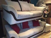 2x 3 seater sofas and foot rest