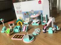 Doll house - wooden toy outdoor furniture