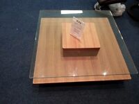 Glass Square Coffee Table Ex Display model
