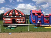 Bouncy castles , disco domes, inflatables, sumo suits, slides