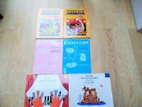 6 ALMOST NEW CHILDRENS PIANO BOOKS, TUNES FOR TEN LITTLE FINGERS, A DOZEN A DAY,THEORY MADE EASY