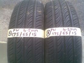 2 X CAR TYRES 175 65R 15 MUD AND SNOW £30 PAIR