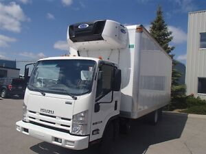 2014 Isuzu NRR 20 Foot Cabover Reefer Unit Truck