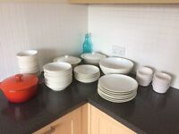 Kitchen crockery, cutlery, utensils, glassware, pots and pans - £50 for everything