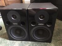 Fostex PM0.5 MkII Speakers with XLR cables **collection only**