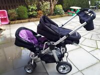 Icandy double buggy, with lots of accessories.