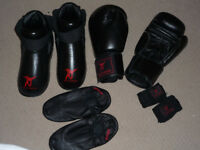 Kickboxing Gloves & other protective gear