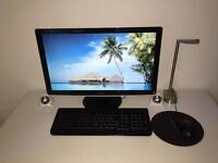 "Dell desktop + speakers + 23"" display; 1 TB; 8 GB RAM; i7 2.80 GHz"