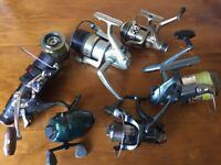 5 x fishing reels