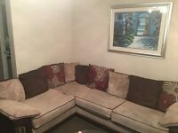 SCS CORNER SOFA, TWO SEATER SOFA AND A LOVE CHAIR - GREAT CONDTION
