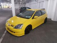 Honda Civic type r 2004 ep3 jdm yellow, good condition lots of extras
