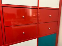 IKEA Kallax Red Drawers in very good condition