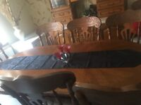 8 chairs with dining table