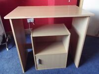 Desk and bedside cabinet set