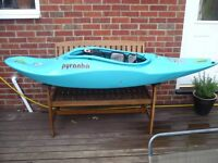 Pyranha kayak i3 222 (almost like new) - whitewater/playboat/surf