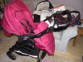 PEG PEREGO(Mamas & Papas) 2in1 TRAVEL SYSTEM SWITCH Pram/pushchair with car seat adapters & accs