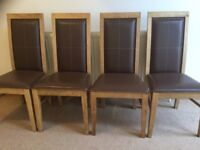 Wood dinning table and 4 chairs --- can be sold separately
