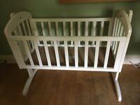 White rocking crib - free