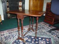 Antique drop-leaf, gate leg, coffee table