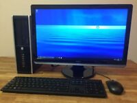 "Powerful FULL SET HP Elite 8300 - i7 3770 3.40ghz, 8GB, 500GB + 22"" FULL HD Monitor Desktop PC"