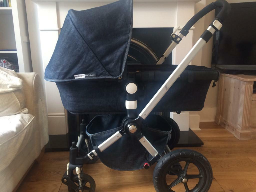 Bugaboo Cameleon 2nd generation including footmuffin Beckenham, LondonGumtree - Bugaboo Cameleon special edition denim 007. Used but in good working order some scuffs and marks to framework. Handle clips need changing but these are easily replaced. Carry cot handle also missing but again easily replaced.Includes rain cover and...