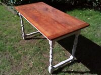 Old Rustic Farmhouse Dining table.