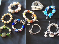 9 Ladies Bangles Various Styles And Colours