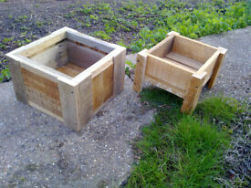 Smaller Pallet Wood Garden Planters