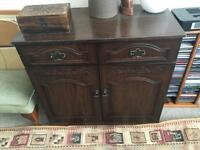 Dark wood drawers