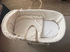 Lovely Mothercare Moses Basket
