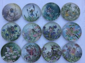 Heinrich porcelain flower fairy plates full collection