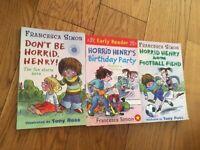 Three children's Horrid Henry books