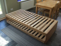 Single Wooden Wood Bed Frame with Trundle / Guest Bed Collection from Essex SS6