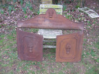Victorian cast iron bread oven home/garden/barbecue feature