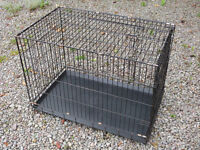 "Folding wire dog cage 36"" long"