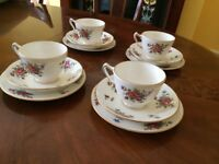 Final clearance Antique Crown Staffordshire bone china tea set 12 pieces